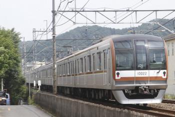2017年6月20日 13時43分ころ、元加治、通過したメトロ10022Fの上り回送列車。