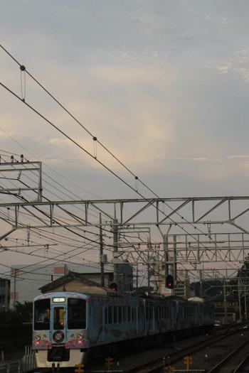 2017年7月2日 18時56分ころ、仏子、4009Fの上り列車。