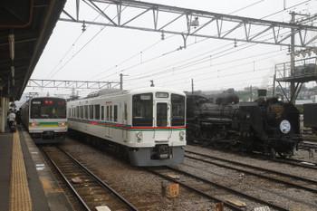 2017年7月23日、秩父、左から7903ほかの24レ・S2レだった西武4023F・SL列車の回送。