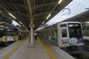 2017年6月26日、入間市、早朝に相次いで飯能へ向かっていた2本が夕方に入間市駅で並んでました。20158Fの4145レと6153Fの1717レ。