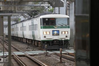 2017年9月8日 8時36分ころ、西大井、185系の「湘南ライナー10号」。
