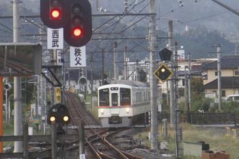 2017年9月19日 6時25分ころ、西武秩父、秩父鉄道から到着する4017Fの各停 飯能ゆき。