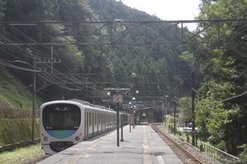 2017年9月19日 10時55分ころ、西吾野、2番ホームを通過する38115Fの上り回送列車。