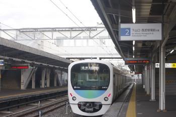 2017年9月29日、西所沢、発車した38103Fの6105レ。