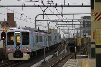 2017年10月14日 16時23分ころ、練馬、急行線を通過する4009Fの上り列車。