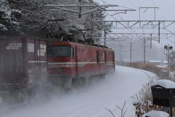 2017年12月12日 12時13分ころ、釜谷、EH800-9牽引の3055レ?