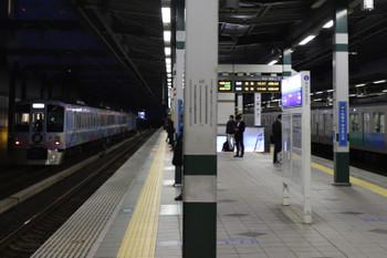 2017年12月2日 16時53分ころ、練馬、急行線を通過する4009Fの上り回送列車。