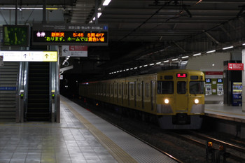 2018年1月15日 5時30分ころ、所沢、2021Fの上り回送列車。