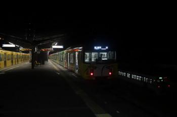 2017年12月3日 23時25分ころ、西武秩父、3番ホームに停車中の20158Fの各停 所沢ゆきと秩父鉄道の下り列車。