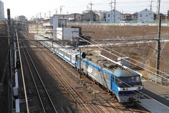 2018年1月21日 10時48分ころ、新秋津、EF201-113+西武1249F。