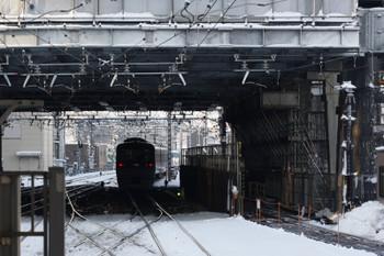 2018年1月23日 7時50分ころ、池袋、特急ホームから電留線へ入る10109F。