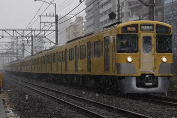 2018年1月22日 12時35分ころ、高田馬場~下落合、2658レ。