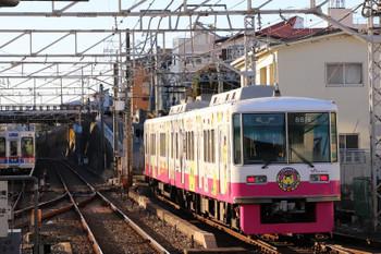 2018年1月22日 15時20分ころ、京成津田沼、「ふなっしー」車体広告8800系の松戸ゆき。