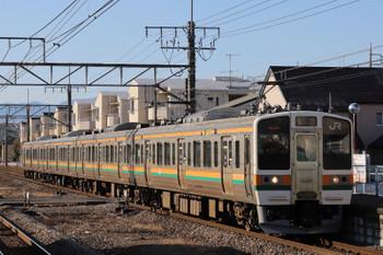 2018年1月6日 9時13分ころ、井野、211系4連の下り列車。