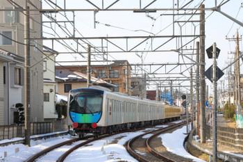 2018年1月28日 14時18分ころ、所沢~西所沢、263Fに牽引され小手指へ向かう40105Fの池袋方5両。