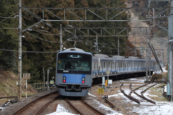 2018年1月28日 9時43分ころ、西吾野、2番ホームから発車した20153Fの下り回送列車。