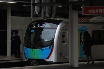 2018年3月9日 12時45分ころ、所沢、1番ホームに停車中の40106F 下り回送列車。