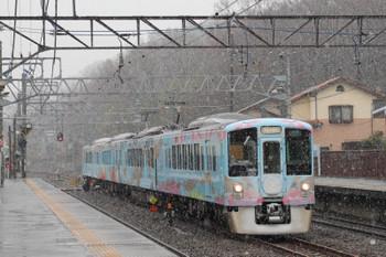 2018年3月21日 12時0分ころ、仏子、4009Fの下り列車。