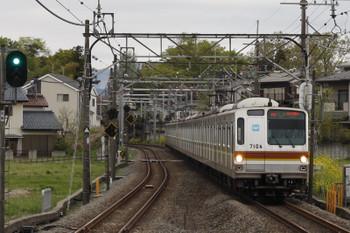 2018年4月5日、元加治、メトロ7004Fの3702レ(87S)。