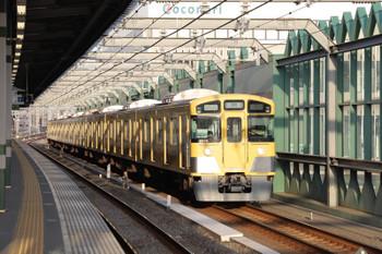 2018年4月8日 6時10分ころ、練馬、2077Fの上り回送列車。