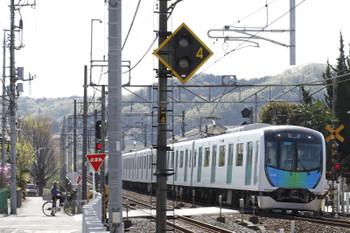 2017年4月16日 9時3分ころ、元加治、通過するS-Trainの402レ用の40102Fの下り回送列車。