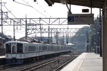 2017年6月10日 6時59分ころ、仏子、通過する4007F+4001Fの上り回送列車。
