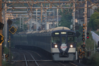 2018年5月12日 5時4分ころ、元加治、9108Fの上り回送列車。