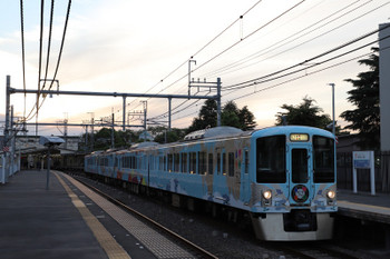 2018年5月20日 18時22分ころ、稲荷山公園、4009Fの上り列車。