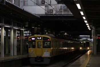 2017年6月11日、ひばりヶ丘、2番ホームを通過する4007F+4001Fの下り回送列車(右奥)と2079Fの1002レ。