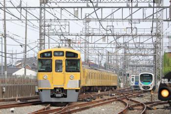 2018年7月22日、西所沢、左から2073Fの4354レ・6113Fの4307レ(延長運転)・38112F。