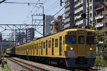 2018年8月17日、高田馬場~下落合、2407F+2003Fの2644レ。