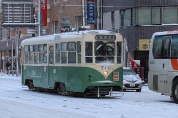 2017年12月12日 8時29分ころ、函館駅前、719の函館駅前止まり。