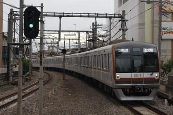 2018年8月20日、大泉学園、メトロ10017Fが代走の6802レ。