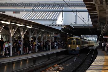 2018年8月26日16時35分ころ、所沢、4番ホームへ到着する2087Fの上り回送列車。