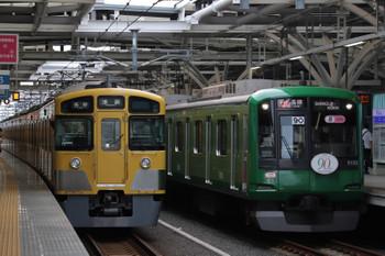 2018年9月13日、石神井公園、5608レの2063Fと6605レの東急5122F。