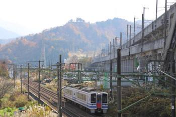 2018年11月12日 11時49分ころ、越後湯沢〜石打、北越急行の快速 直江津ゆき3836M列車。