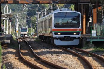 2018年8月26日 6時58分ころ、金子、E233系とE231系の交換。