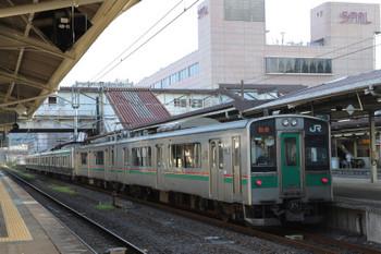 2018年7月27日、福島、E721系2+2連とE701系2連が併結の仙台ゆき。