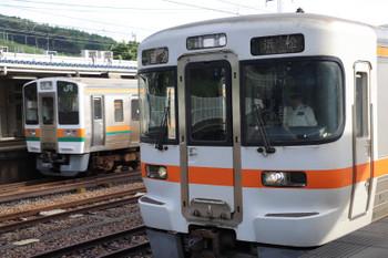 2018年9月9日、金谷、JR東海の313系と211系の並び。