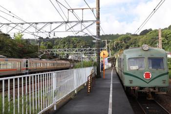 2018年9月9日、金谷、南海から来た大井川鉄道の電車21001ほか2連とJR東海の211系・313系併結編成。