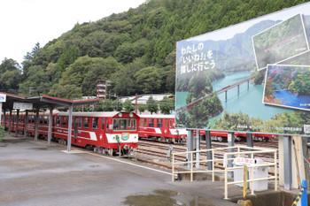 2018年9月9日 9時ころ、千頭、井川線のホーム。