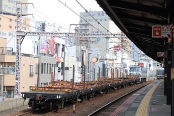 2018年10月5日 11時10分ころ、野田、EF66-117牽引のレール輸送貨車。