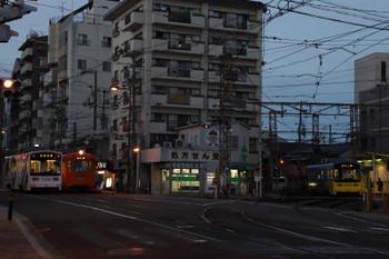 2018年10月5日17時44分ころ、阪堺電鉄・住吉、右が天王寺・左が恵美須町方面。