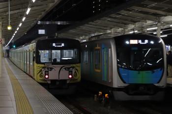 2018年12月22日、入間市、20158Fの下り回送列車と40101Fの2162レ。
