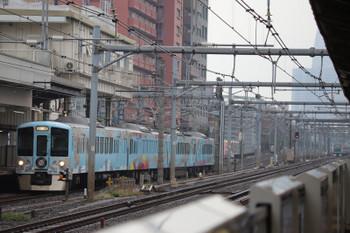 2018年12月23日 14時2分ころ、高田馬場、西武新宿駅から回送される4009F。上石神井駅で夜の部の資材積み込みでしょうか。