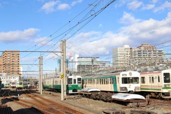 2019年1月2日 13時半ころ、高崎、上信電鉄の構内。