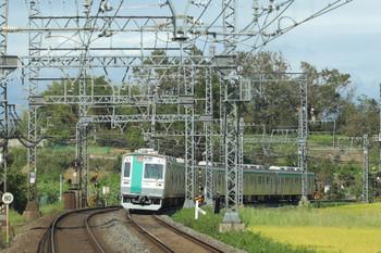 2018年10月6日 11時25分、興戸~新田辺、京都市交10系の急行 奈良ゆき。