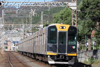2018年10月6日 15時9分ころ、枚岡~額田、阪神1000系の区間準急 尼崎ゆき。
