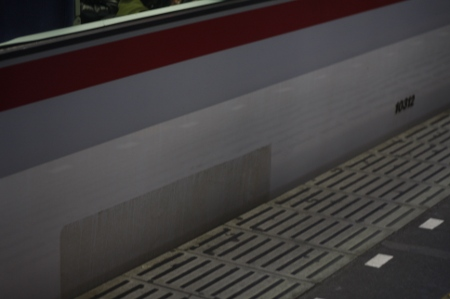 2009年12月14日、西武 モハ10312の側面。左側が西武新宿方。
