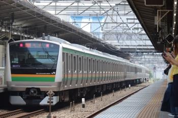 2018年5月27日 12時23分ころ、池袋、新宿ゆきの湘南新宿ライン。